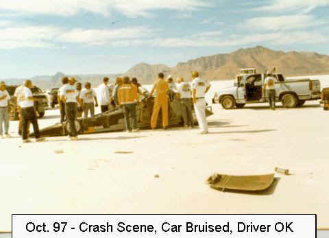 1997 Auto Racing Airplane Crash on Crash Scene World Finals 1997 Jeff Driving After Spinning At